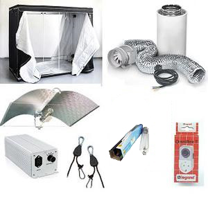 HomeBox 240x240x200cm. paket, HPS 2400w Professional