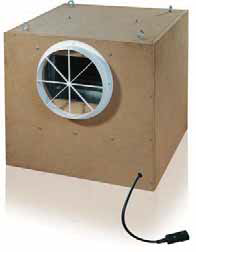 KSDD Fan in sound isolated box 1000m3/h