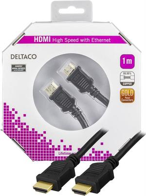 Deltaco HDMI - HDMI High Speed with Ethernet 1m